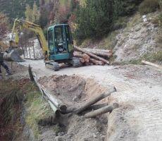 Sanacija ceste proti Poštarskem domu v mesecu oktobru