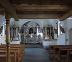 Notranjost cerkvice sv.Lovrenca