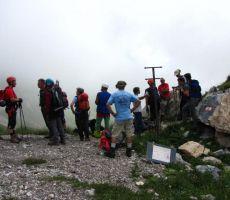 ena skupina gre še na Monte Chiadenis