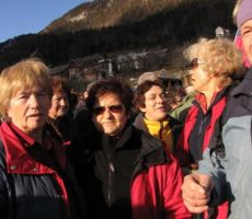 po zaključku smo se naključno srečali z našimi planinci iz Ljubljane