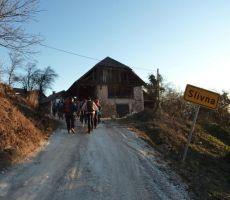 Badjurova planinska pot: Zapodje – GEOSS – Slemšek – Zasavska sv. gora – 15. januar 2012