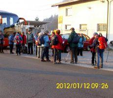 1. seniorski izlet: Dragomer-Brezje-Partizanski dom na Ključu, četrtek, 12. januar 2012