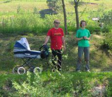 Janko, Martina in Miklavž pa so nas opazovali s sprehajalne poti