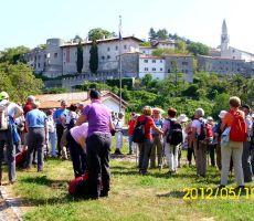 Fabianijeva pot: Štanjel – Kobdilj – Gradišče -skupni izlet z Brežiškimi torkarji, 10. maj 2012