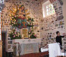 notranjost Plečnikove cerkve
