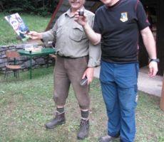 in zahvala LD, ki nam nudila gostoljubje, gospodar Cveto in predsednik Ivan sta si nazdravila