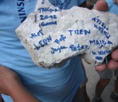 Ivanu pa so pripravili kamen s Triglava za spomin