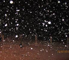 tisti, ki niso vajeni snega so imeli kar težave priti v dolino