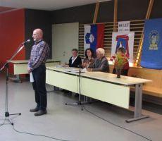 stari in novi predsednik PD PŠT Ljubljana Stanislav Tomšič