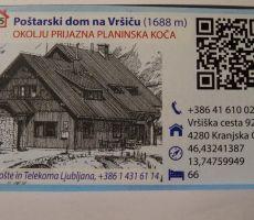 Poštarski dom na Vršiču prejel certifikat OKOLJU PRIJAZNA PLANINSKA KOČA - sobota, 1. februar 2014