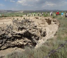 Krater na meji z Iranom