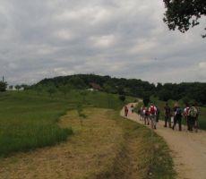 na poti proti kmetiji Čerček...