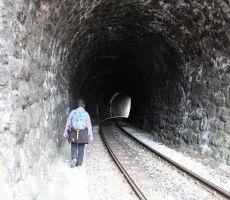 Tunel na Plečnikovi postaji v Kamniku
