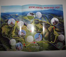 Zemljevid Steklasove poti