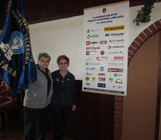 Jožica in Irena pred našimi sponzorji
